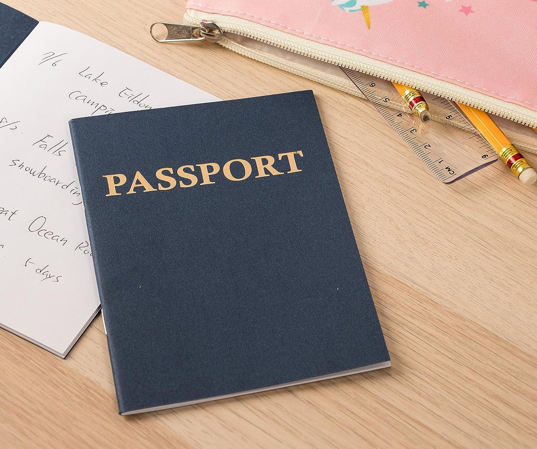 azul marino juegos de rol paquete de 24 cuadernos en blanco para proyectos escolares Pasaporte 10.8 x 14,6 cm,. libros de recortes