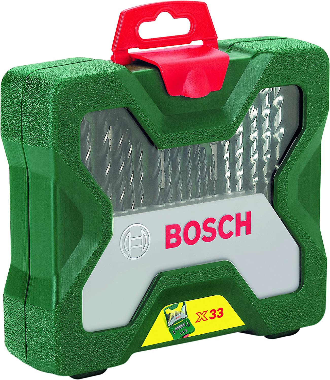 Bosch X-Line - Maletín de 33 unidades para taladrar y atornillar