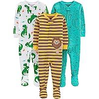 Simple Joys by Carter's 3-Pack Snug Fit Footed Cotton Pajamas Bebé-Niños