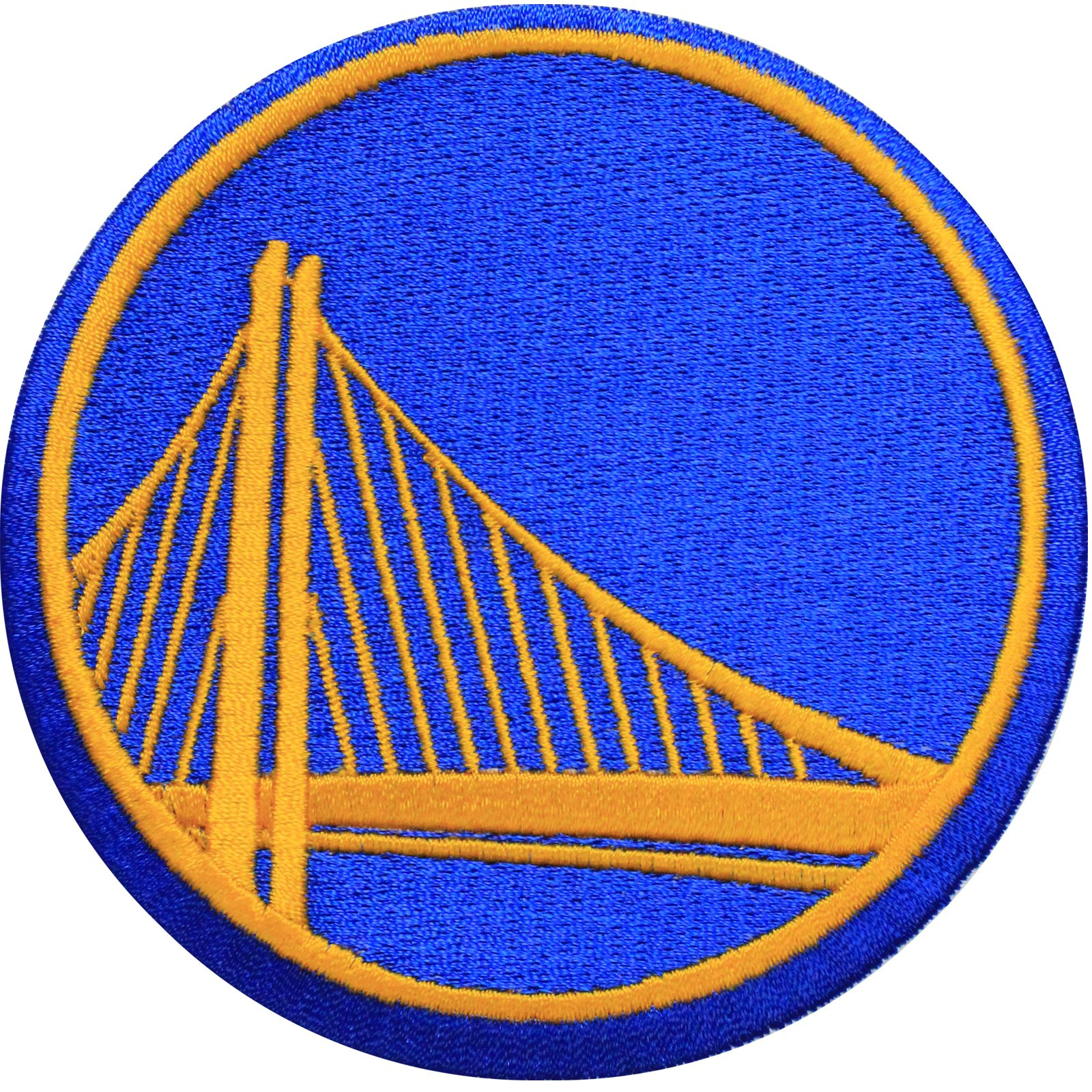 Official Golden State Warriors Logo Large Sticker Iron On NBA Basketball Patch Emblem (ALT)