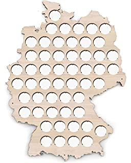 product image for Germany Beer Cap Map - 12x16 inches - 53 caps - Beer Cap Holder Germany - Birch Plywood