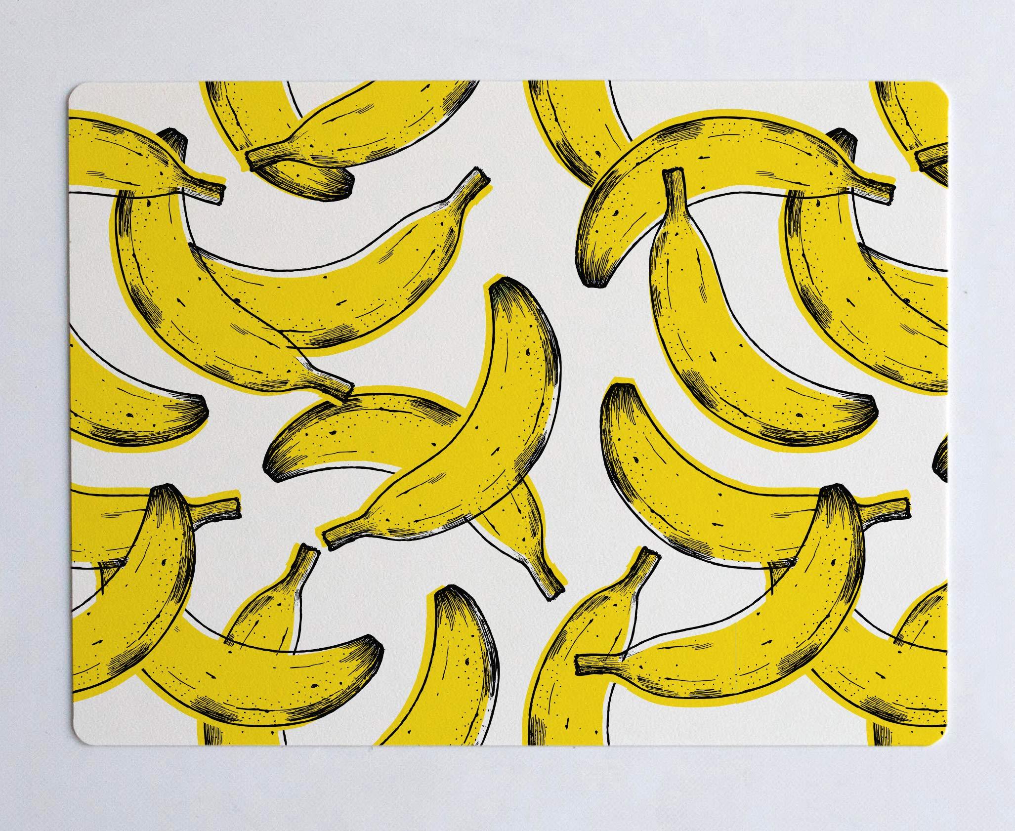 Dear Bestiario Banana Desk Mat, Jute Fibre, Printed, Single