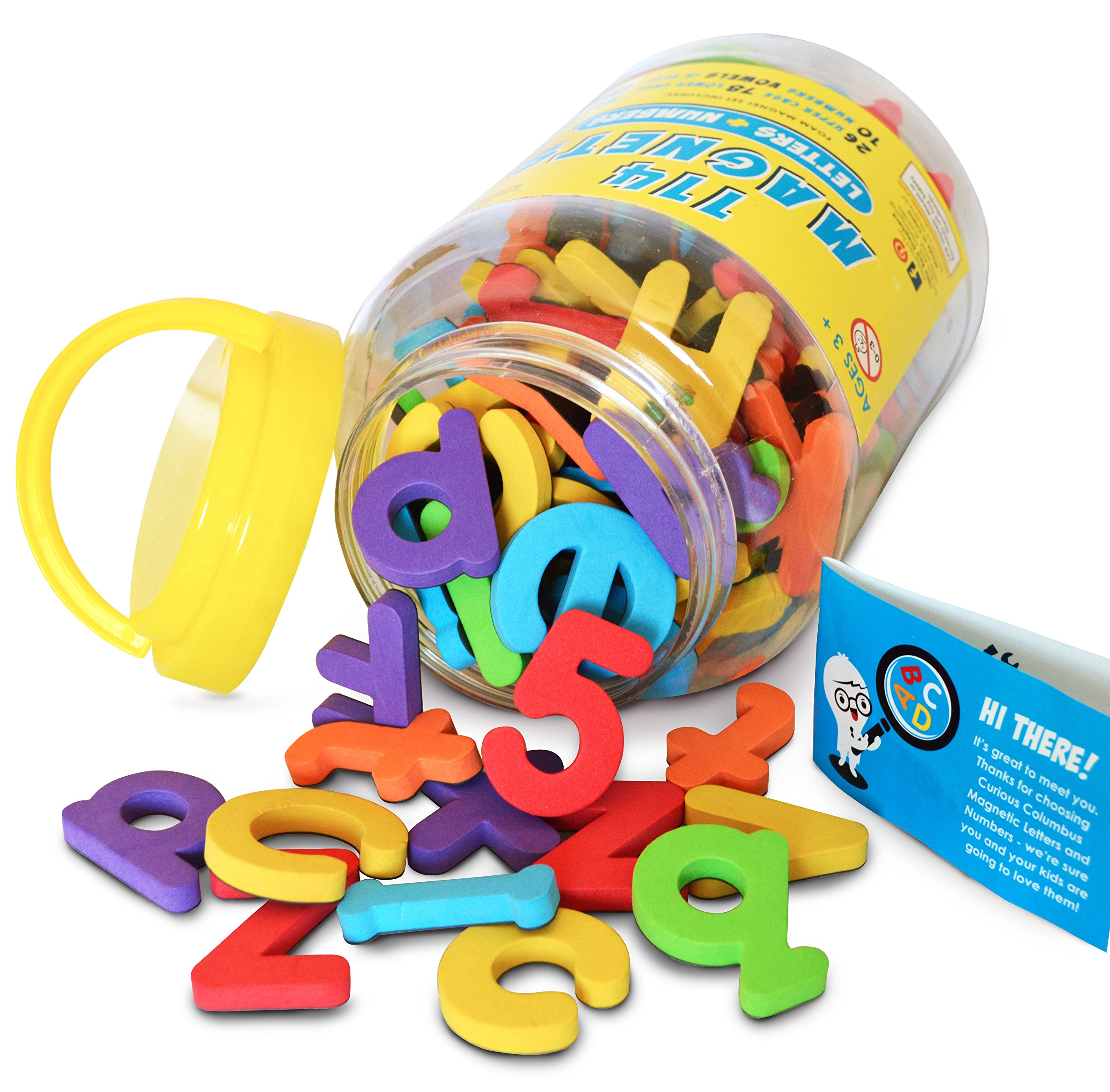 Magnetic Letters And Numbers By Curious Columbus. Set Of 114 Premium Quality .. 14