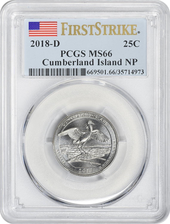 2018-P 5oz Cumberland Island Park ATB Silver Quarter SP70 First Strike PCGS