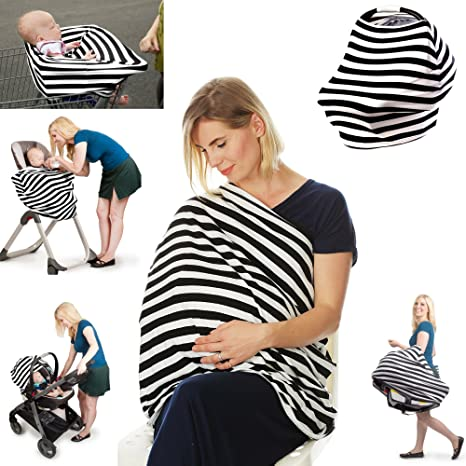 Stretchy Multi-Use Car Seat Canopy Nursing cover+Infant Baby Carrying Case New