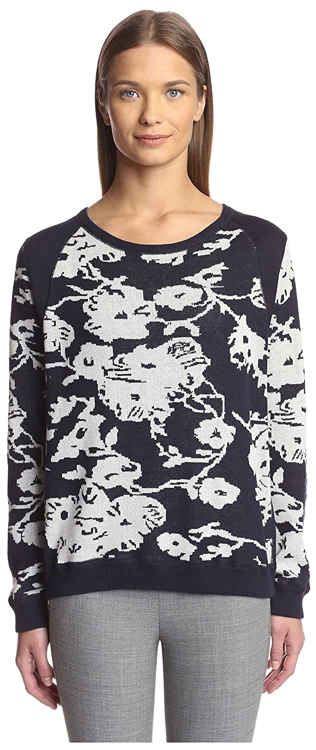 278168412d9 Joan Vass Women s Floral Sweater at Amazon Women s Clothing store