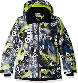 Quiksilver Boys Big Mission Printed Youth 10k Snow Jacket,