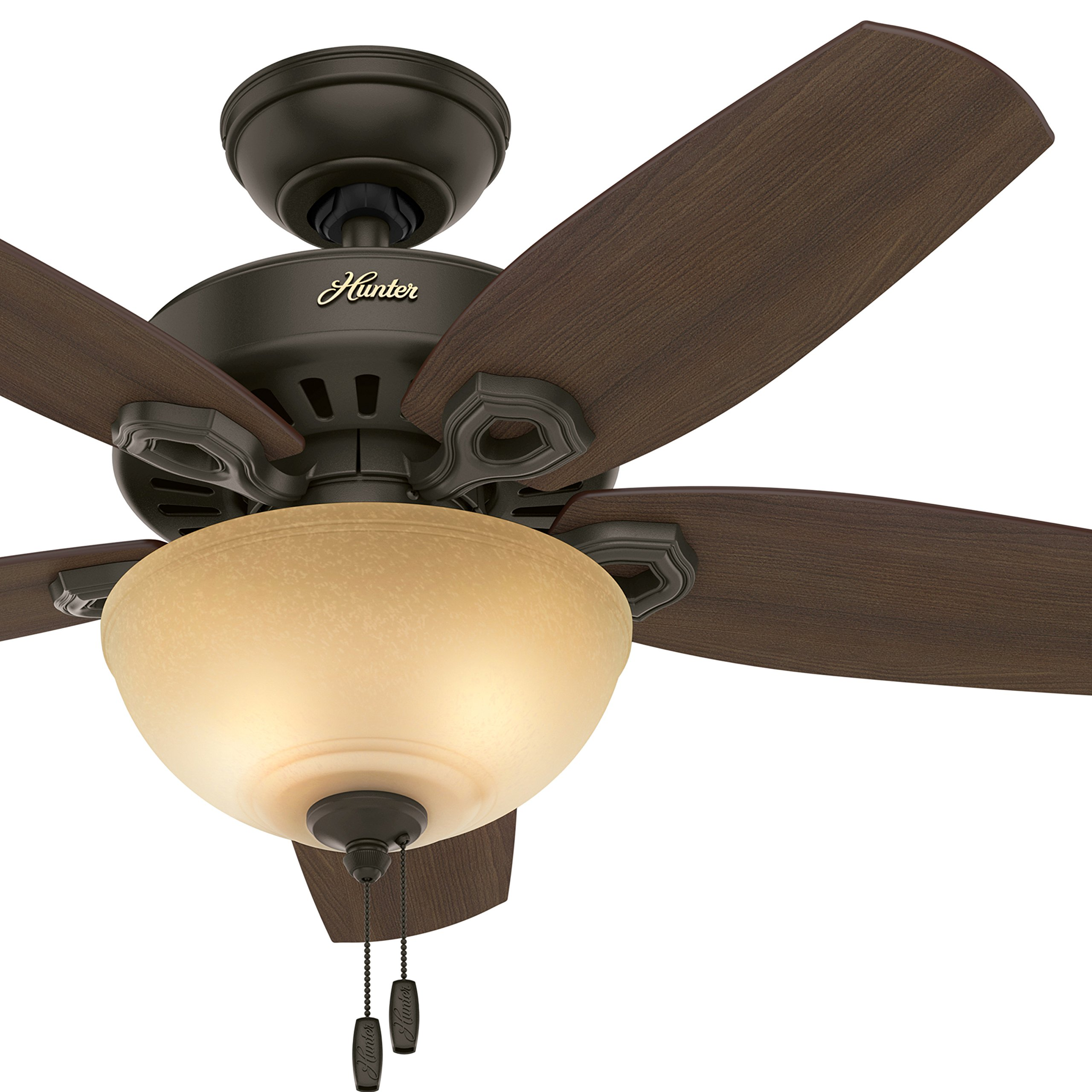 Hunter 42'' Small Room Ceiling Fan in New Bronze with Bowl Light Kit (Certified Refurbished)