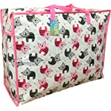 123d410d05 The Pescara Collection Large storage bag 65 litres. Pink   Grey kittens  pattern. Toys