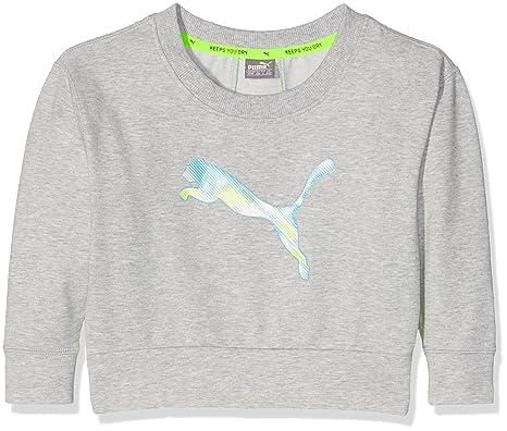 a98dbda842dd0 Puma Sweat-Shirt pour Enfants Softsport Cover Up G 9-10 Ans Gris Clair