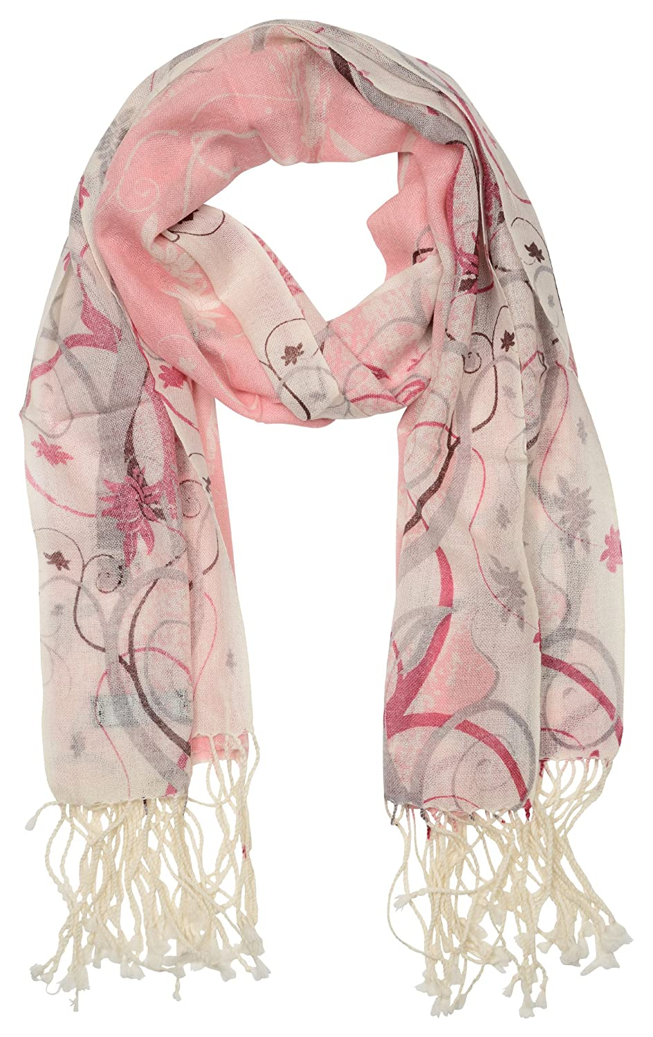 Novemberskies Women's Printed Pashmina Scarf Shawl - A Warm Breeze