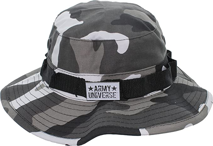 city camouflage boonie hat with army universe pin - size medium 7   Amazon.in  Clothing   Accessories 1b0e2952faf