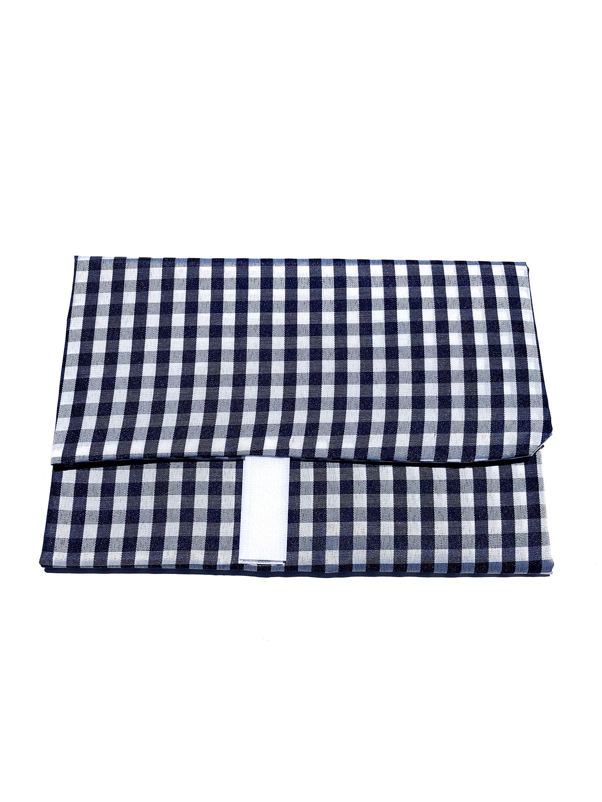 WRAP-N-MAT, Extra Large, Reusable Food Wrap and Placemat (Blue Gingham)