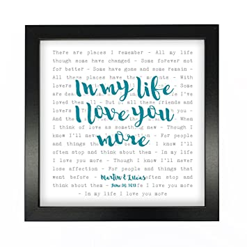 Amazon the beatles in my life song lyrics print framed the beatles in my life song lyrics print framed personalised anniversary valentines stopboris Images