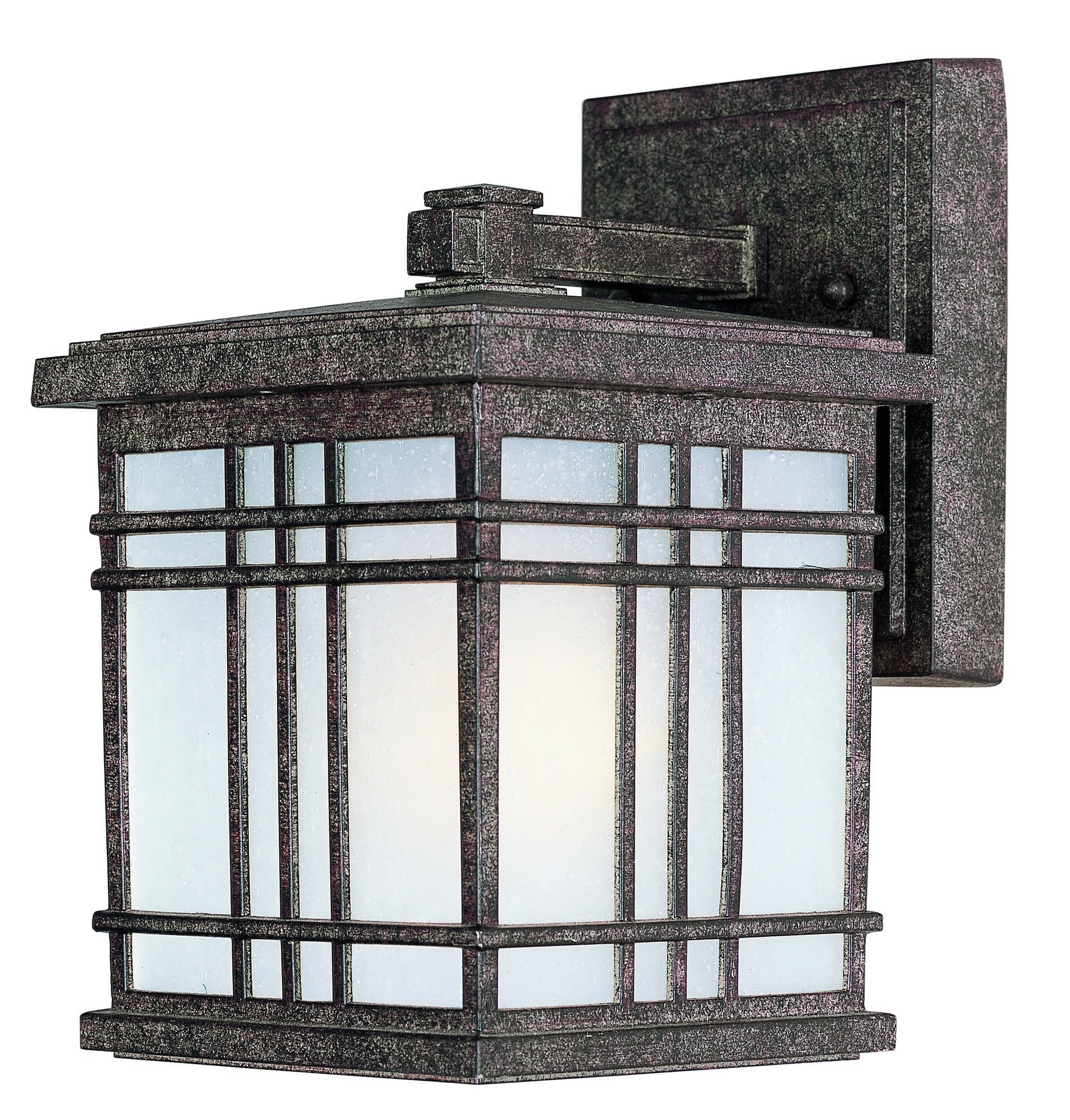 Maxim 3322FSET Sienna 1-Light Mini Outdoor Wall, Earth Tone Finish, Frosted Seedy Glass, MB Incandescent Bulb , 100W Max., Damp Safety Rating, Standard Dimmable, Glass Shade Material, 3450 Rated Lumens