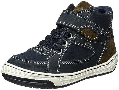 Lurchi Jungen Barney-Tex Hohe Sneaker, Grün (Dk.Petrol), 34 EU
