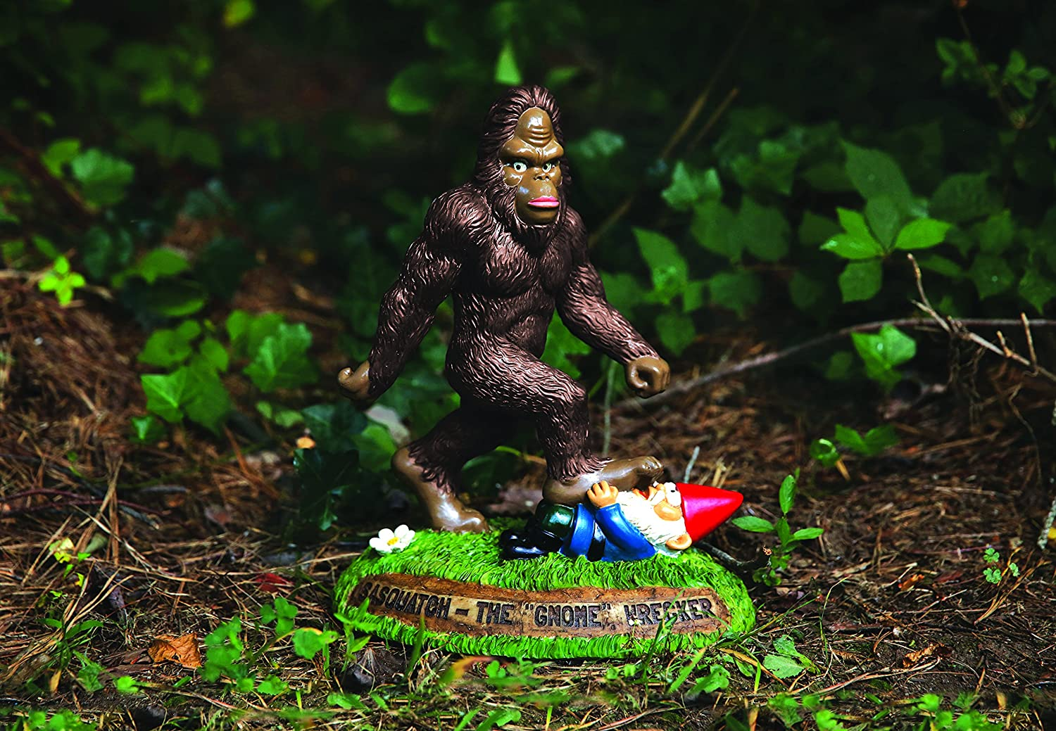 Sasquatch the Gnome Wrecker Garden Statue