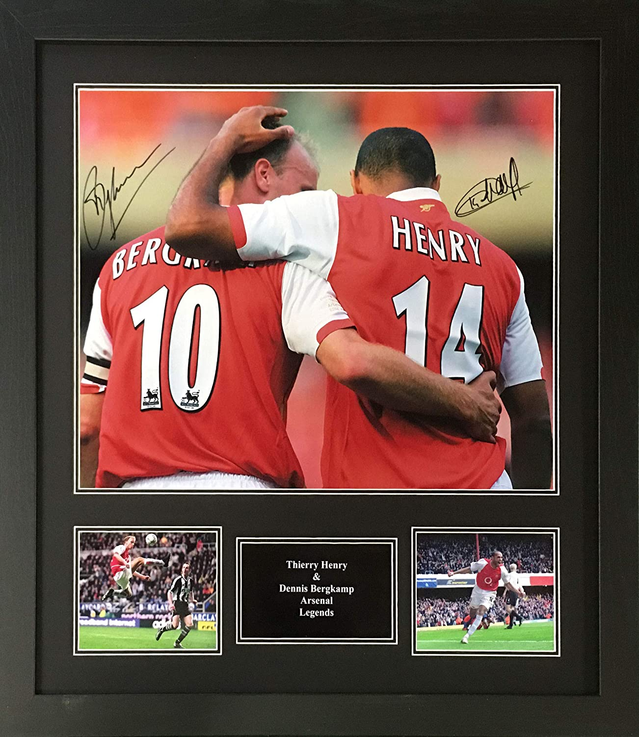 cc678a1cea9 Dennis Bergkamp and Thierry Henry signed and Framed Arsenal 16x20 inch  photo with COA and proof: Amazon.co.uk: Sports & Outdoors