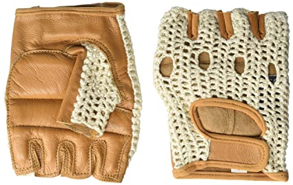 Kango Fitness Real Soft Leather Mesh Net Fingerless Driving Weight Training  Cycling Wheelchair Gloves W-1037