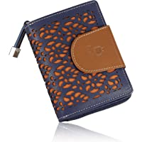 Le Craf Maria Blueberry Genuine Leather Wallet Purse for Women and Girls