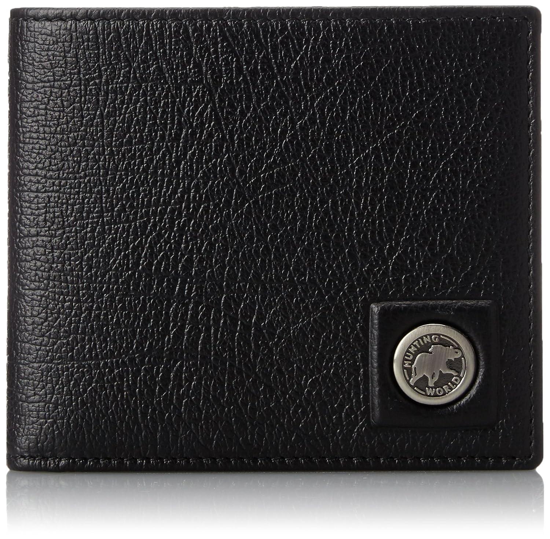 [ハンティングワールド] HUNTINGWORLD 二つ折り財布(小銭入付き) 【並行輸入品】 B00Y7Z35K6 ブラック