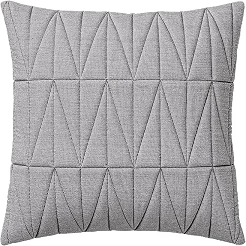 Bloomingville Square Grey Quilted Chambray Pillow