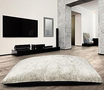 Large Anti Slip Jumbo Crushed Velvet Floor Cushion Pet Bed Pillow Cushion Soft Comfy Cream Large Floor Cushion