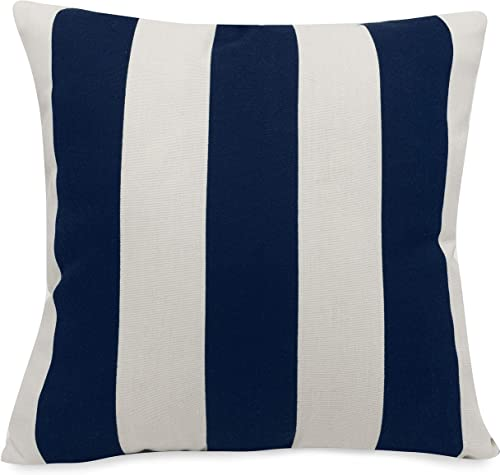 Majestic Home Goods Pillow, X-Large, Vertical Stripe, Navy Blue