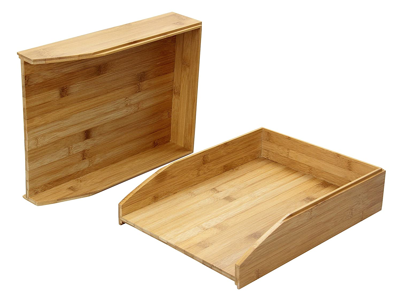 Woodquail Set di 2 Vassoi Porta-Corrispondenza in bamboo ...
