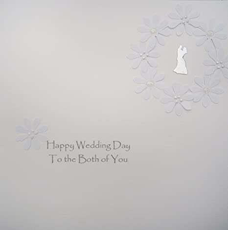 White Cotton Cards de Boda para Agenda de Ambos of You ...