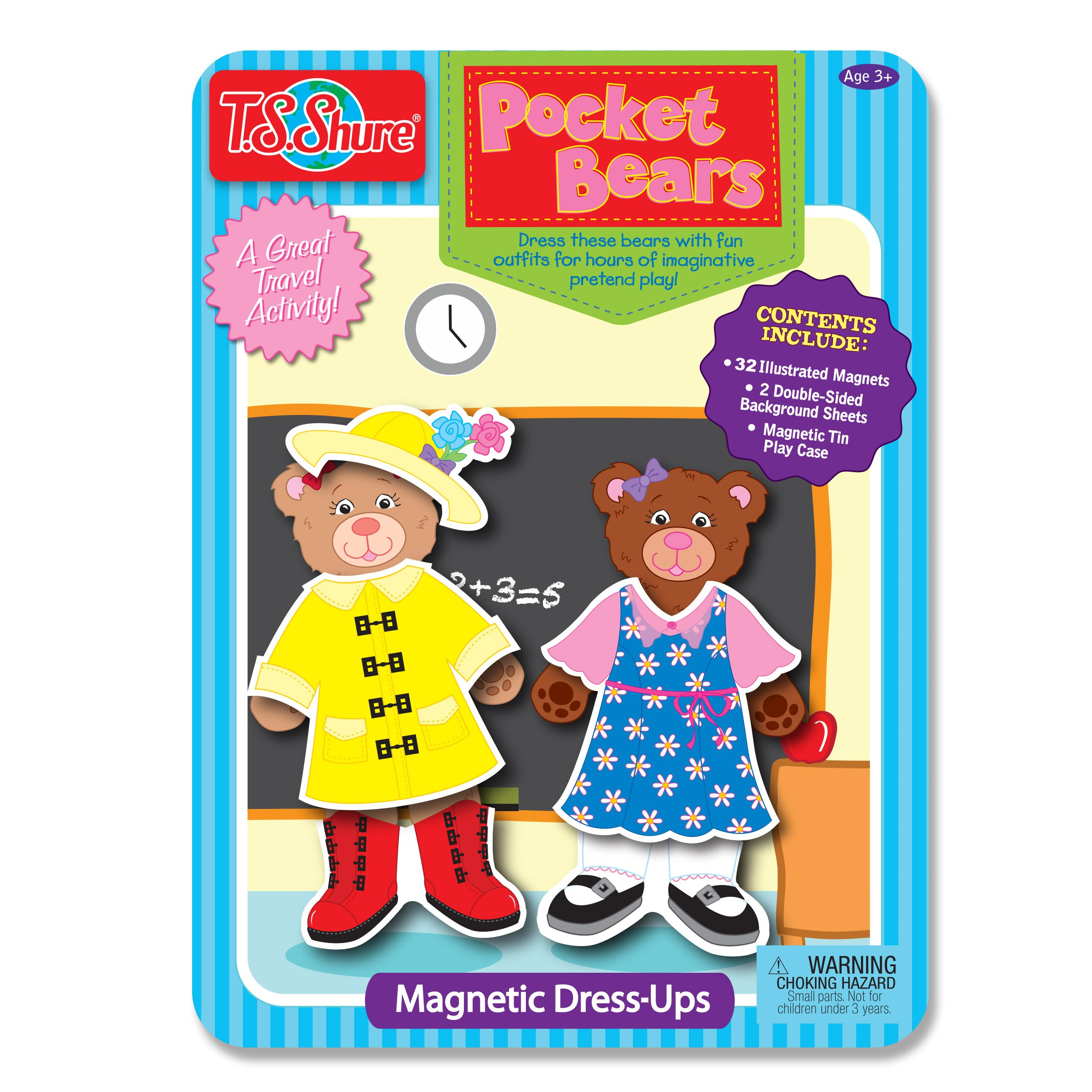 T.S. Shure Pocket Bears Magnetic Tin Playset by T.S. Shure
