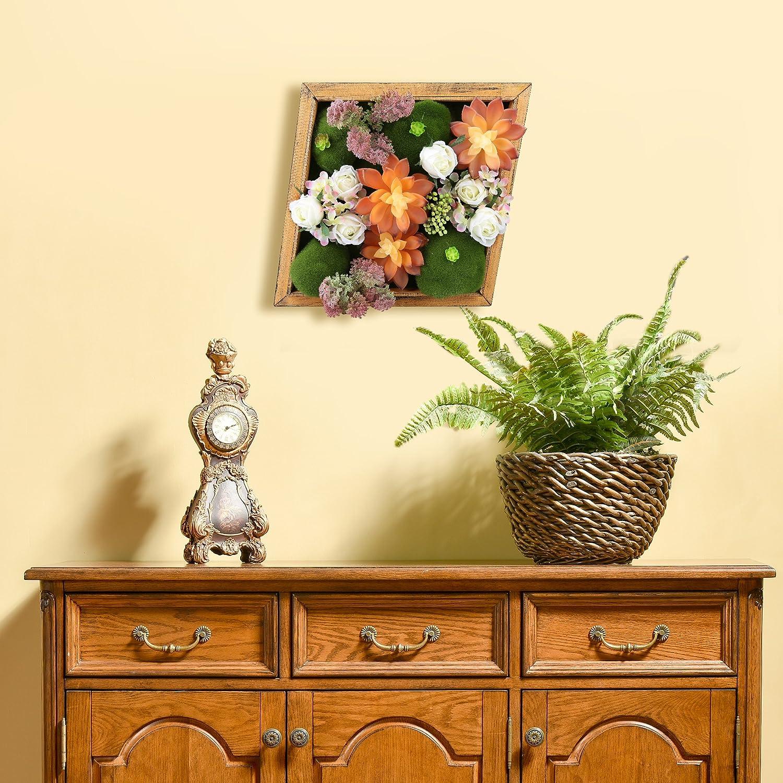 Amazon.com: Jintano 3D Artificial Flowers Wall Hanger Succulent ...