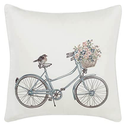 Amazon Laura Ashley Bicycle Throw 40inch Pillow Natural Stunning Laura Ashley Decorative Pillows