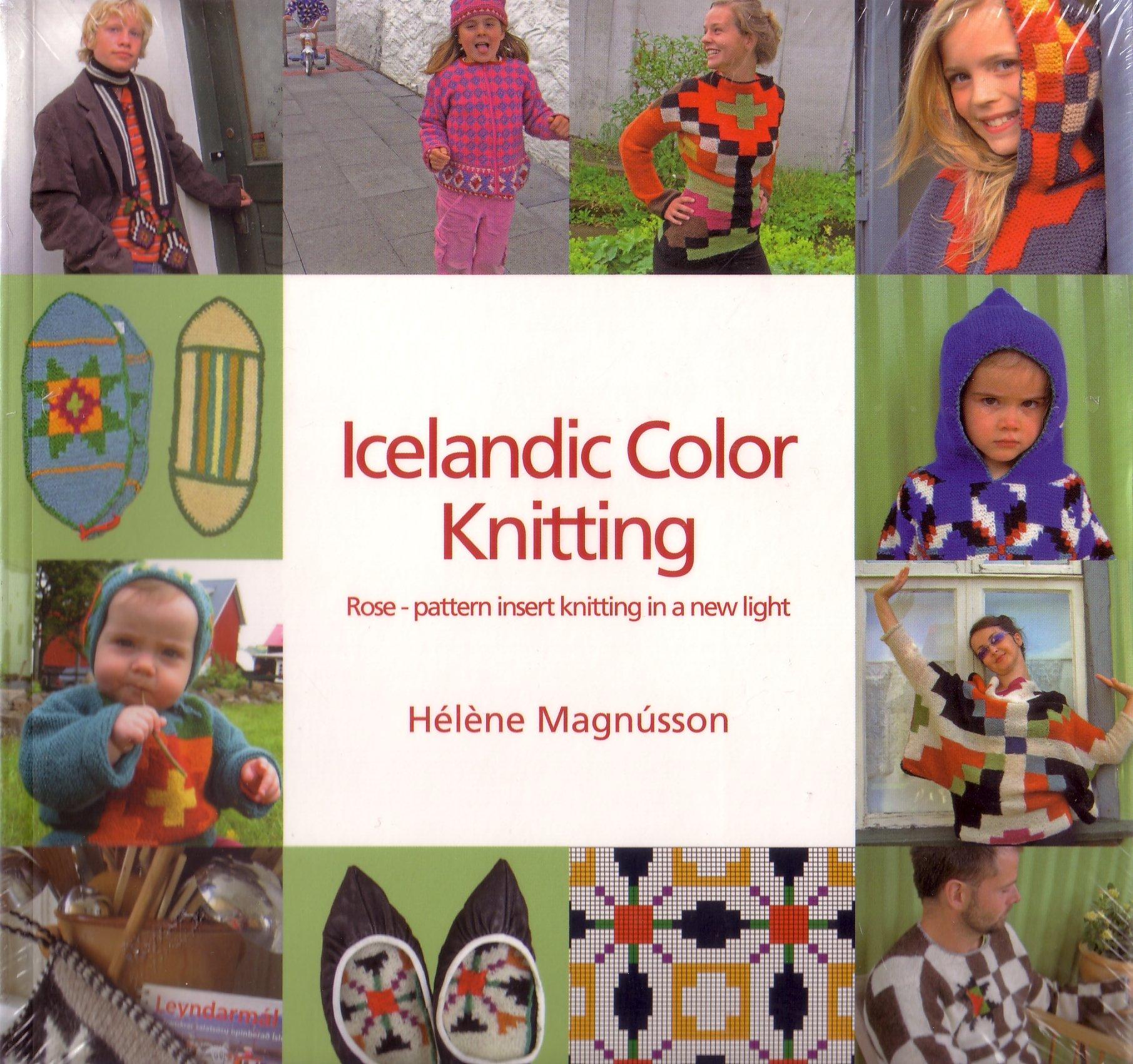 Icelandic color knitting: rose-pattern insert knitting in a new light