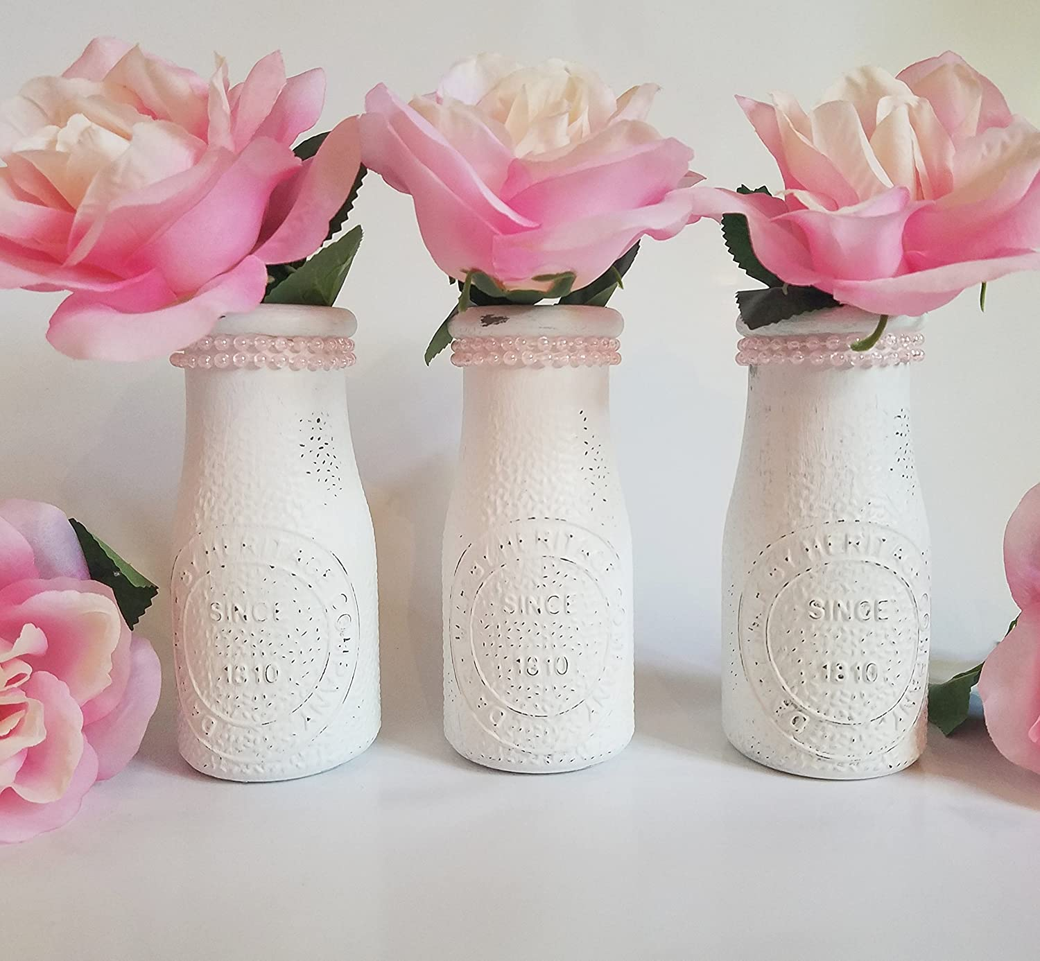 Amazon milk bottle vase set bud vases dairy bottle amazon milk bottle vase set bud vases dairy bottle princess party birthday party baby girl shower girl first birthday pearl party pearl reviewsmspy