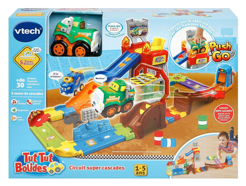 Taille Unique Peter-Super Cascadeur 503705 Multi-Couleur VTech-VTech-503705-Tut Tut Bolides-Circuit Cascades Push et Go