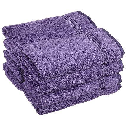 Superior - Juego de Toallas de Lavabo de algodón, Color Morado Real, 8 Piezas