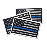 3 pack - Tattered 3M reflective Thin Blue Line 3.75