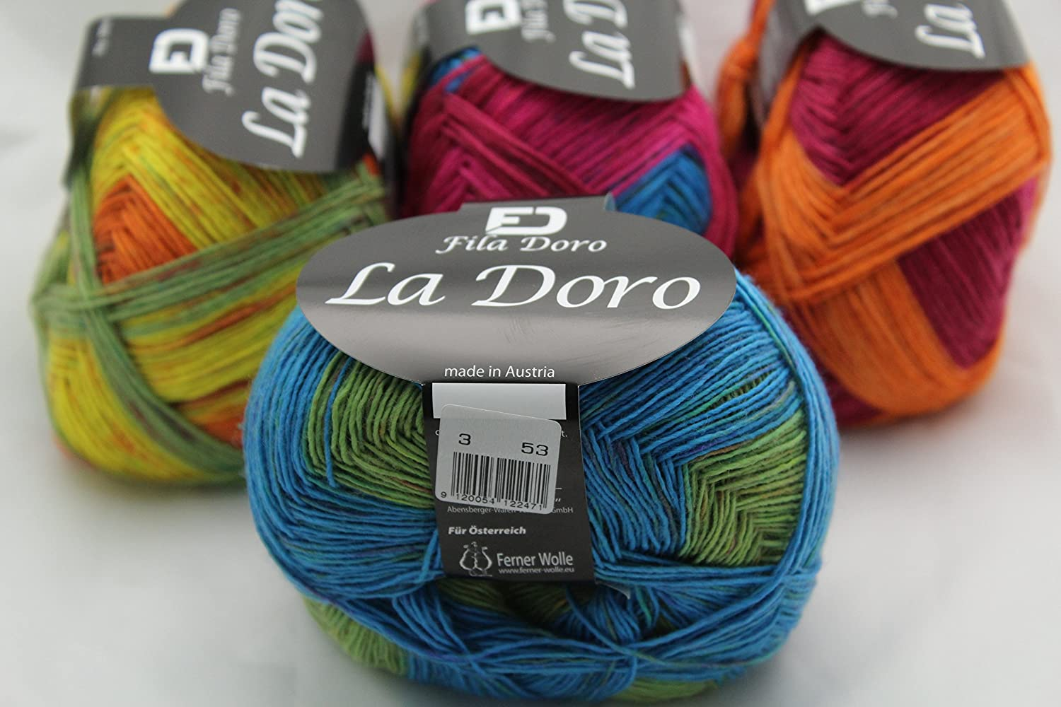 amazon com la doro ferner wolle, variegated yarn, fine lace  wolle blends c 2_15 #8