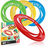 4-Pack Falcon Lite Flying Disc Rings Hot Outdoors Game,Beach Games,Water-Summer Toys for Kids-Outdoor Gifts & Best Gift for Teen Boys,Girls & Adults