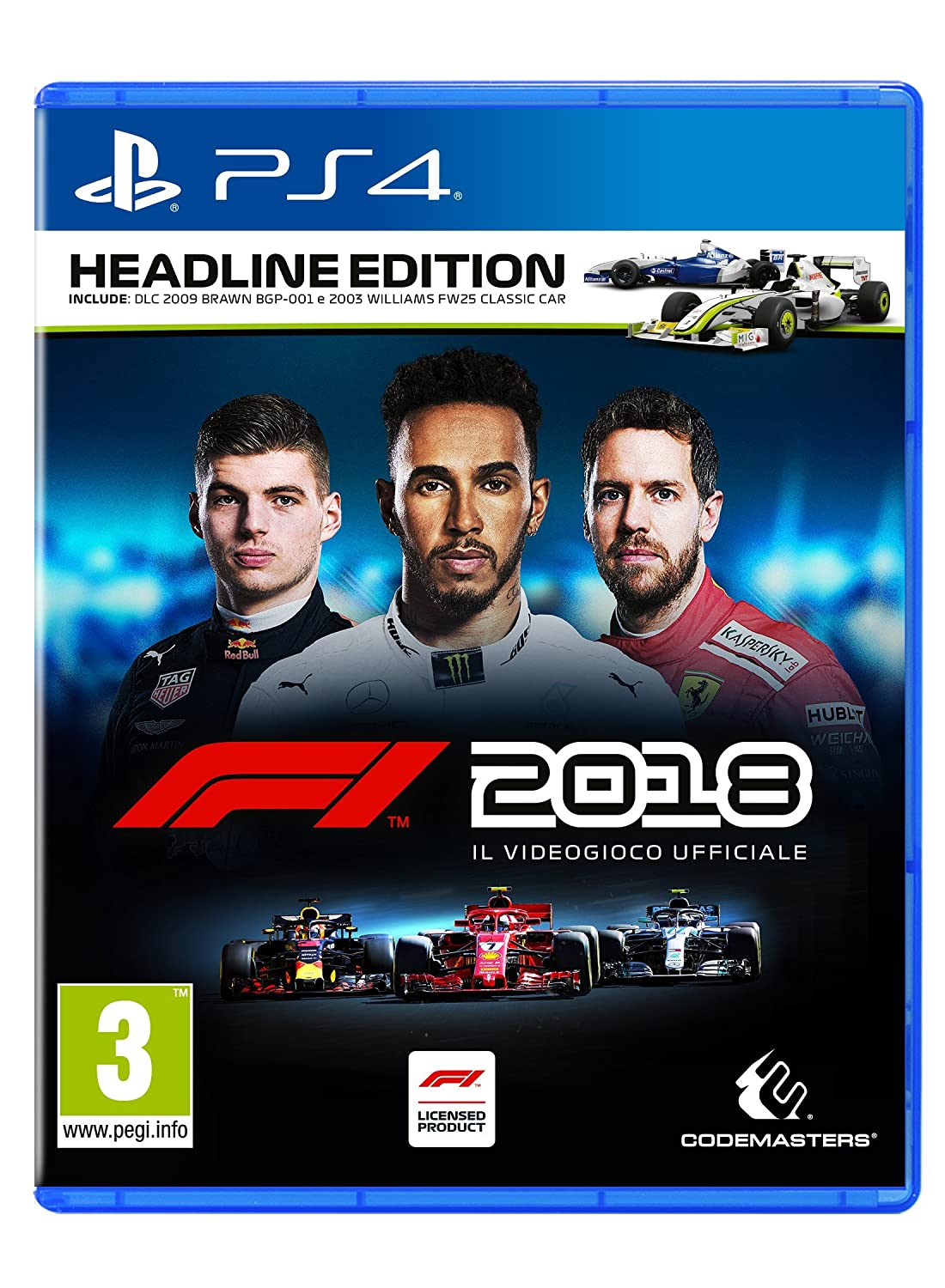 F1 2018   Headline Edition   Play Station 4 by Codemasters