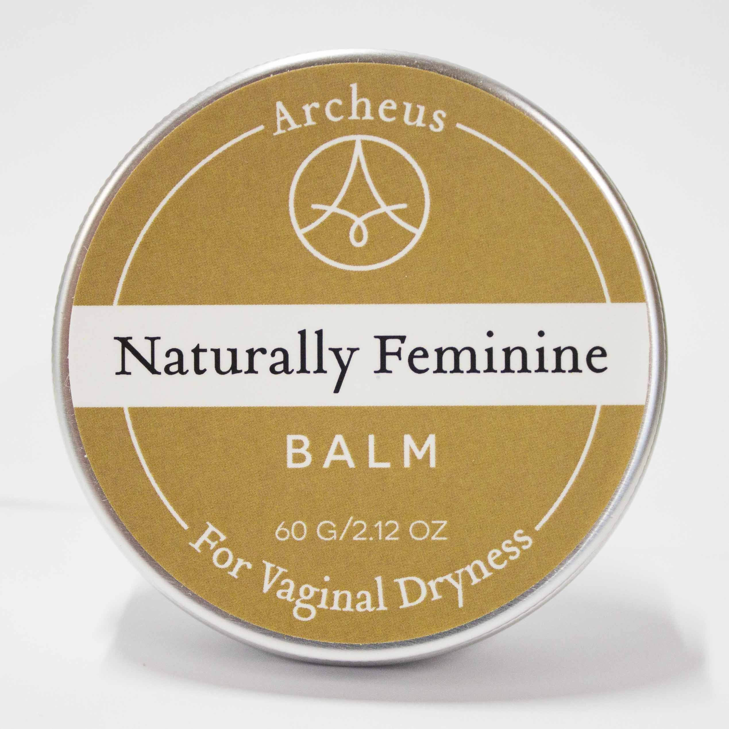 Naturally Feminine Balm - Natural & Organic Balm for Relief from Vaginal Dryness Suitable for use During Menopause for Intimacy and Post-partum by Archeus