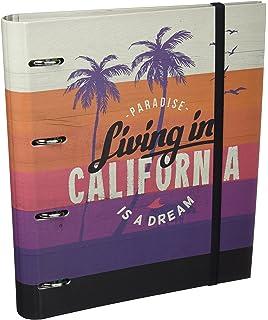 Grupo Erik Editores California - Carpeblock con 4 anillas, 32 x 27.5 cm
