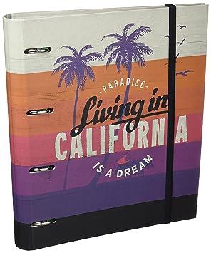 Grupo Erik Editores California - Carpeblock con 4 anillas, 32 x 27.5 cm: Amazon.es: Oficina y papelería