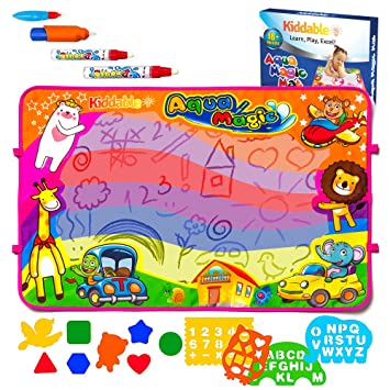 Aqua Magic Mat, Betheaces Kids Toys Large Water Drawing Mats Toddlers  Painting Writing Board in 6 Colors 2 Magic Pens 1 Brush Boys Girls  Educational