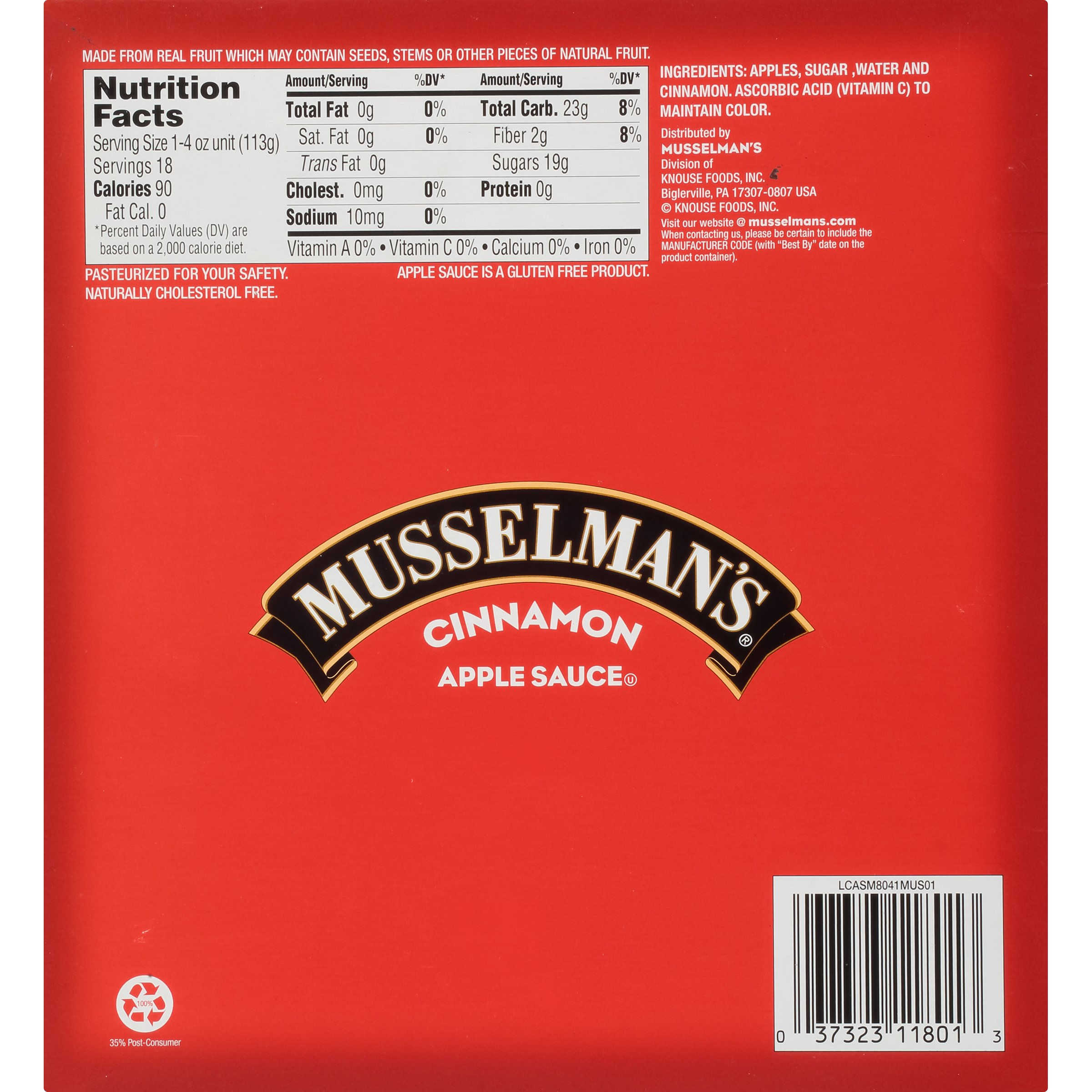 Musselman's Cinnamon Apple Sauce Cups, 4 Ounce by Musselmans (Image #2)