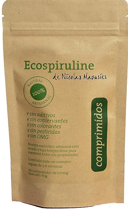 espirulina de alta calidad - 160 comprimidos de 500mg: 80g de espirulina pura sin aditivos