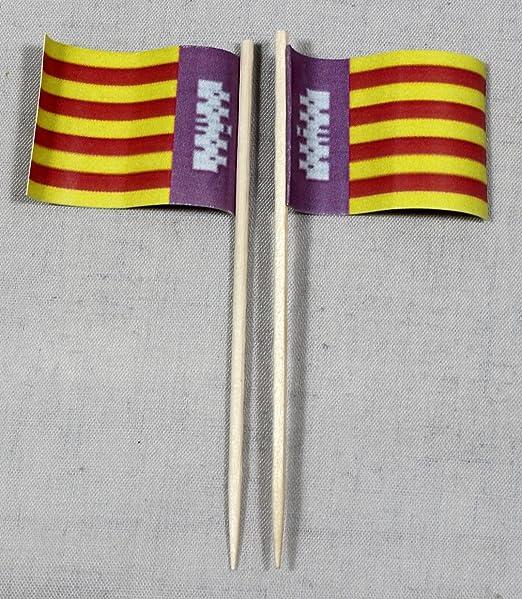 Party-palillos de la bandera de Mallorca España banderitas de ...