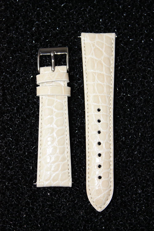 18 mmボーンGenuine Crocodile withクイックリリースピンfor Micheleスタイル  B00607VYRU