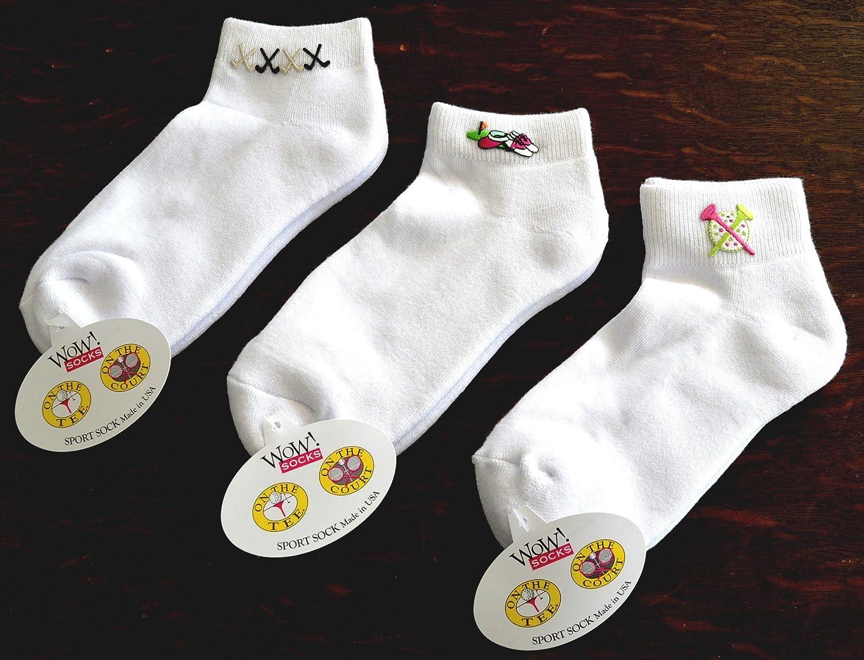 Trendit - Calcetines de golf WOW.Socks - 3 Pares One Size Fits All (Talla 36 - 40) - Fabricado en Estados Unidos. un crédito Golf regalo para la Mujer, ...